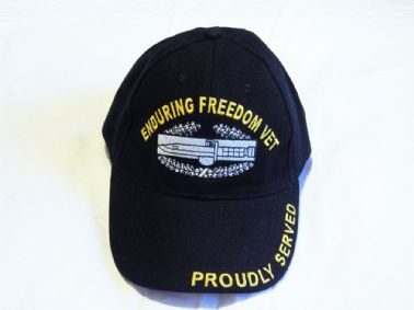 UNITED STATES AIR FORCE ENDURING FREEDOM VETERAN EMBROIDERED BASEBALL CAP